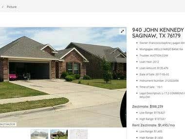 Real Estate Site - Back & Front End