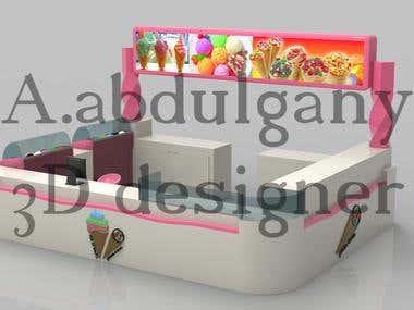 3D kiosk interior design