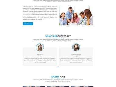 Responsive On-page Website Design