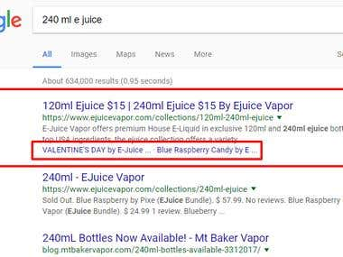 Google Rich Snippets implementation on a Vape site