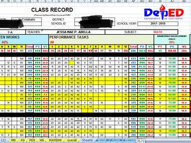 Daily Data entry on excel