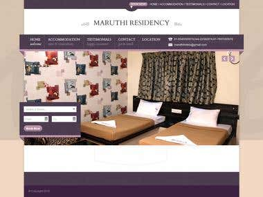 WORDPRESS ROOM BOOKING SITE (MAUTHIRESIDENCY.IN)