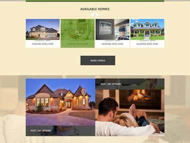 Website mock-up design