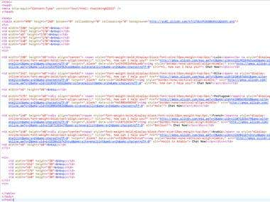 example of HTML source code