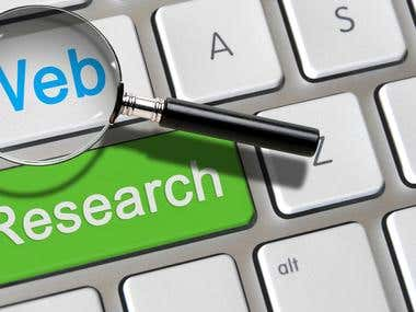 Web and Internet Research