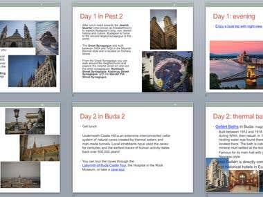 travel plans for four in 4 cities in Europe