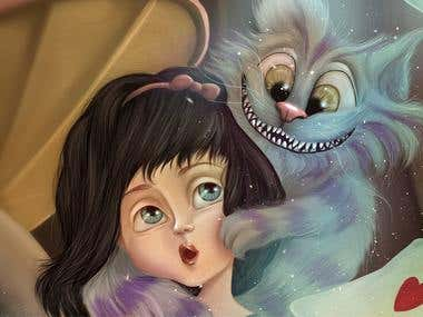 Alice in Wonderland- Children's book illustration