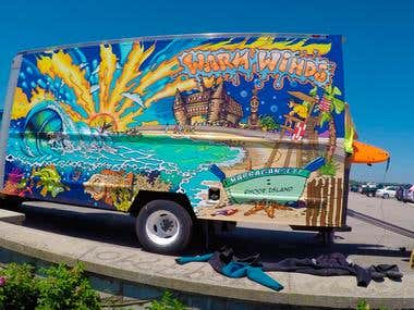 Truck vinyl wrap 2016