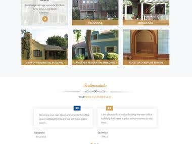 Homepage Mockup For Construction Builders