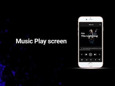 Mobile music app UI/UX