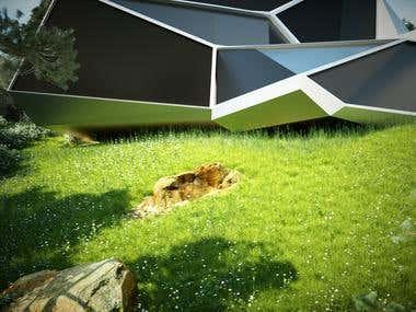 3D realistic garden/vegetation