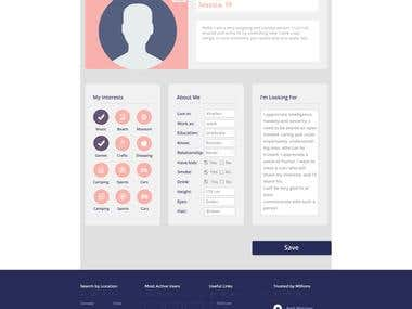 DATING WEBSITE PSD