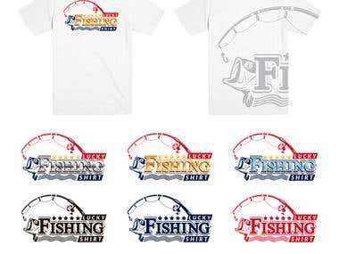 Lucky Fishing Shirt | Diseño de Logo Promocional