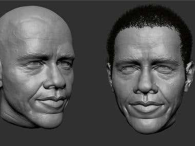 3d bust models for 3d printing.