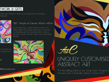 Flyer for abstract art !