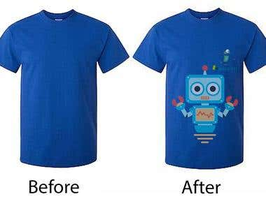 Blue T-shirt Support Robots