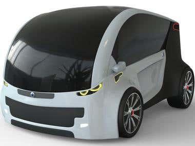 3d concept car.