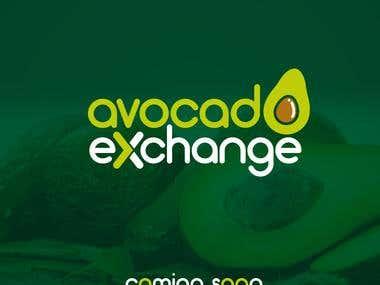 Avocado Exchange Ad and Logo Design