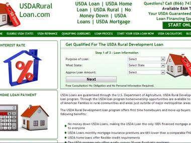 Web Site for USDARuralLoan.com