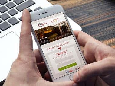 Mobile Landing Page of My client Razvan Hotel - Romania