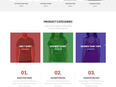 Wordpress Woocommerce T-shirts website