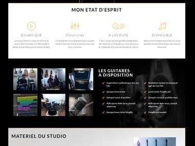 Website creation with wordpress
