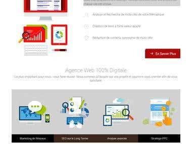 Website creation using wordpress