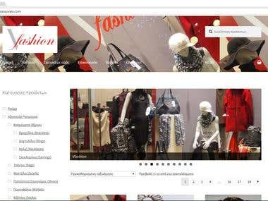 Vfashion , eshop in WooCommerce.