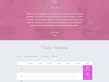 WordPress Site for Yoga Teacher