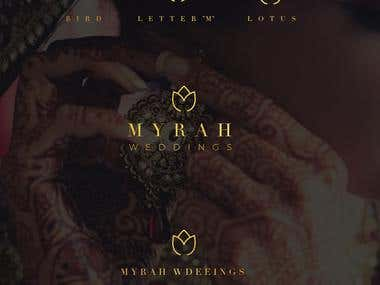 Logo design for Myrah Weddings