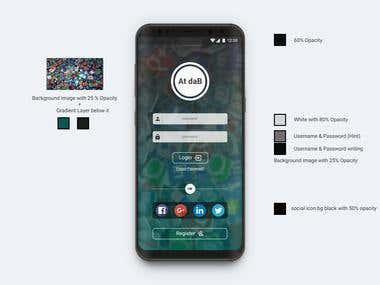 UXUI Design - Mobile App (AtdaB)