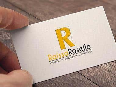 RAÍSSA ROSELLO (Logomarca - Projetos de arquitetura)