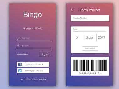 Bingo App Design