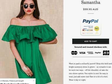 Product Descriptions for online fashion store