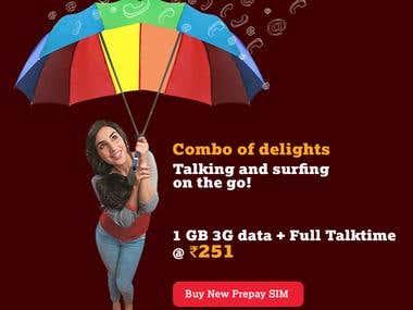 UI/UX - Tata Docomo Telecom Promotional Activity