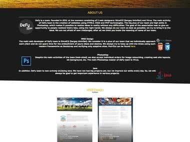 My team web-site (my own work).