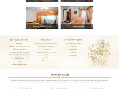"Website for hotel ""VILLA NEAPOL"" http://neapol.com.ua/en/"