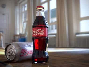 Just render of Coca-Cola