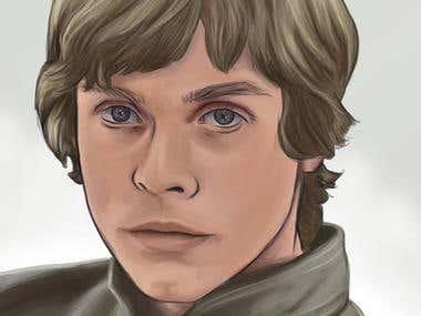 Illustration of Luke Skywalker