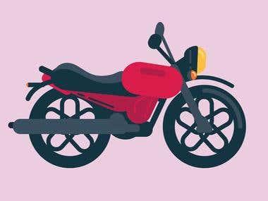 bike illustration design