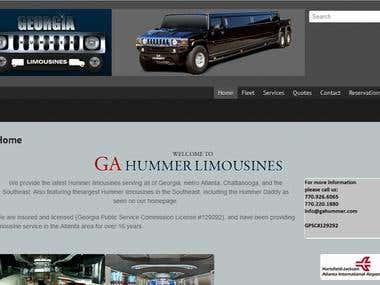 GA Hummer | Custom Wordpress Site