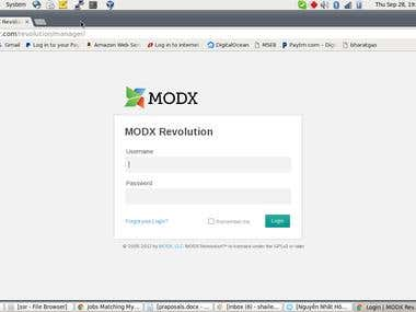 Modx installation on CWP7