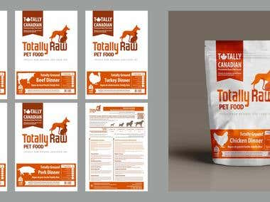 Pets feed pouches design