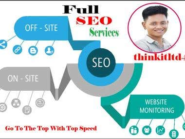 I Will Do Full SEO Service To Rank Your Website Very High
