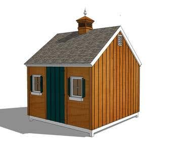 3D Sketchup Models of Sheds