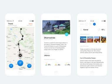 iOS Travelling App