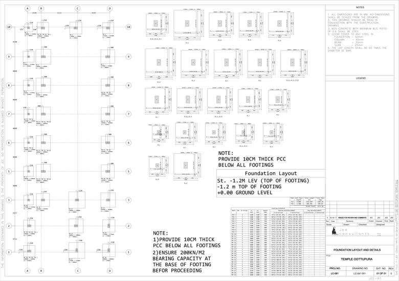 RCC BUILDING DESIGN DETAILED DRAWINGS FOR SITE EXECUTION | Freelancer