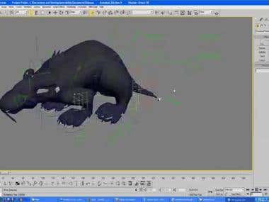 Rat Rigging, Modelling and animation.