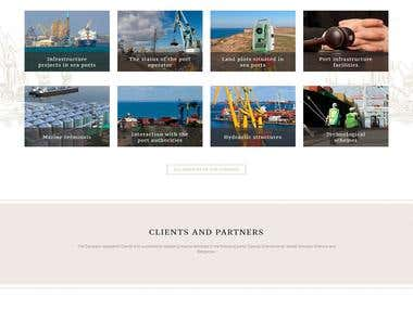 Website for Maritime Legal Investment Company