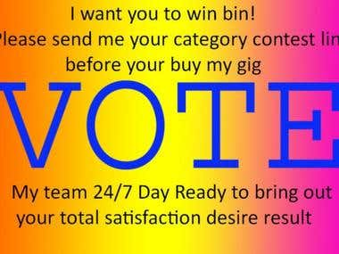 I Will give any Online Voting Contest
